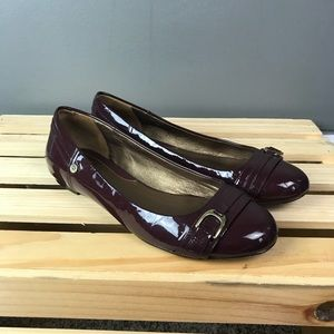 Cole Haan patent leather Nike air flats size 6